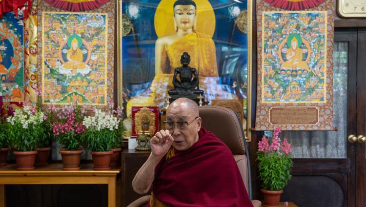 Bien-être et résilience (Sa Sainteté le Dalaï Lama) 2021-01-22-Dharamsala-N10_JAM4696